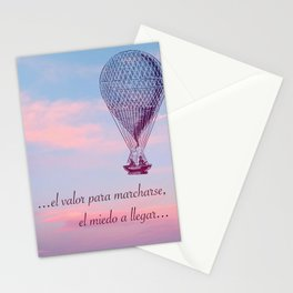 El valor para marcharse Stationery Cards