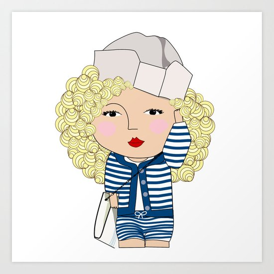 Mss Sailor Art Print