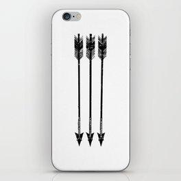 Arrows (Black & White) iPhone Skin