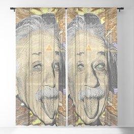 Albert Einstein Sheer Curtain
