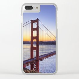 Golden gate bridge at dawn Clear iPhone Case