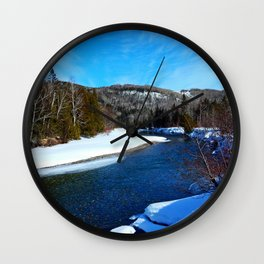 Salmon River in Spring Wall Clock