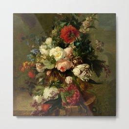 "Harmanus Uppink ""Still Life with Flowers"" Metal Print"