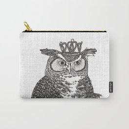 Great Horned Owl Wearing a Glittering Crown Carry-All Pouch
