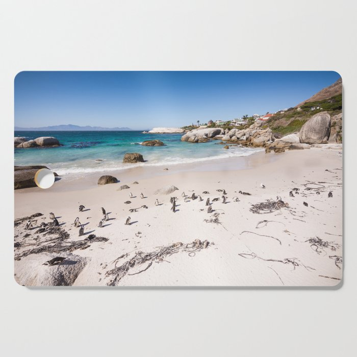 Penguins on Boulders Beach in Cape Town, South Africa Cutting Board