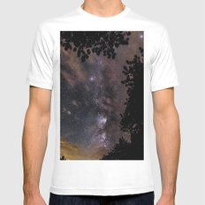 A THOUSAND STARS IN THE SKY White Mens Fitted Tee MEDIUM