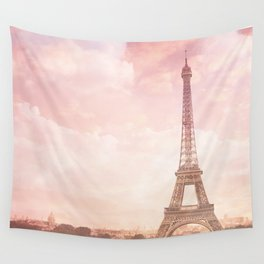 Paris in Pink Wall Tapestry