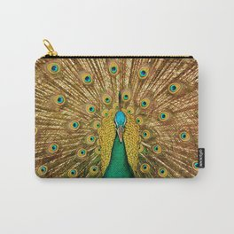 peacock in close up photography Carry-All Pouch