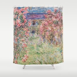 Monet, The House Among The Roses, 1917-1919 Shower Curtain