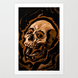 Ink Skull Art Print