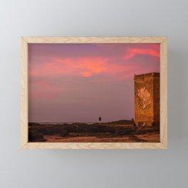 On the coast of Essaouira, Morocco. Framed Mini Art Print