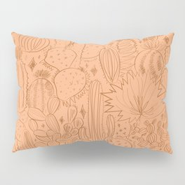 Cactus Scene in Orange Pillow Sham