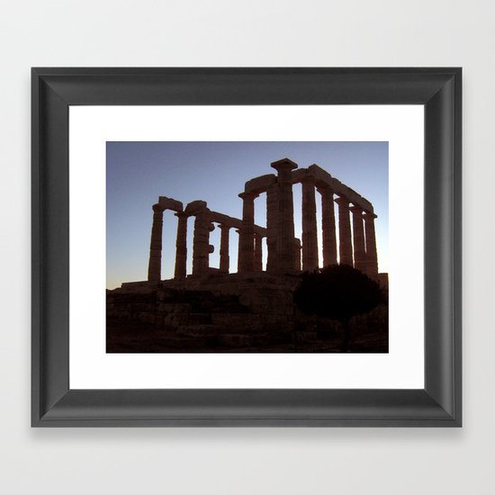 Temple of Poseidon Framed Art Print