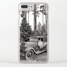 Buck Nasty's Moonshine Model A Ford Vintage Truck Skeleton Clear iPhone Case
