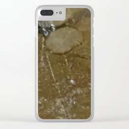 sign of the times. Clear iPhone Case