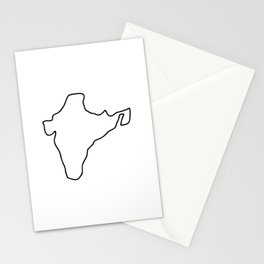 India Indian map Stationery Cards