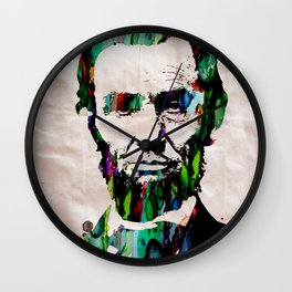 Abraham Lincoln 2017 Watercolor President Art Painting Pop ART Wall Clock