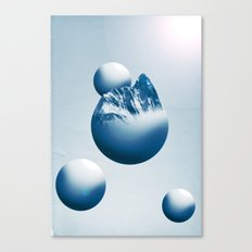 Ice Mountain Planet Canvas Print