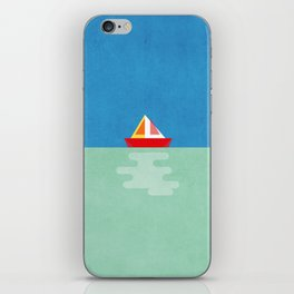SOMETIMES YOU JUST NEED A BOAT - BLUE/GREEN/RED/YELLOW iPhone Skin