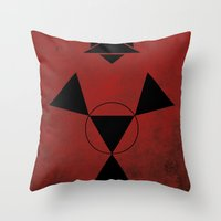 digimon Throw Pillows featuring Guilmon by JHTY