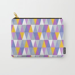 Triangles | Purple, Yellow & Blue Carry-All Pouch