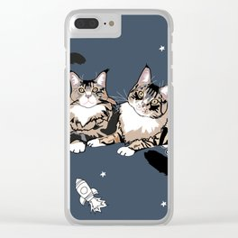 Space Cats Clear iPhone Case