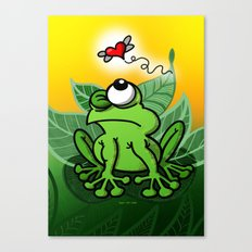 Frog Chasing Love Canvas Print