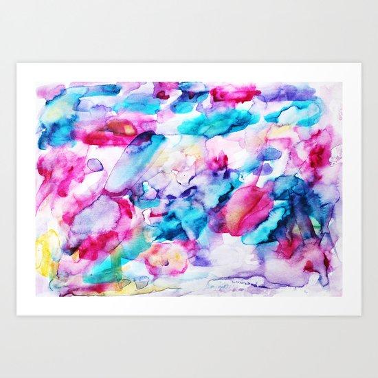Colorful transparency || watercolor Art Print
