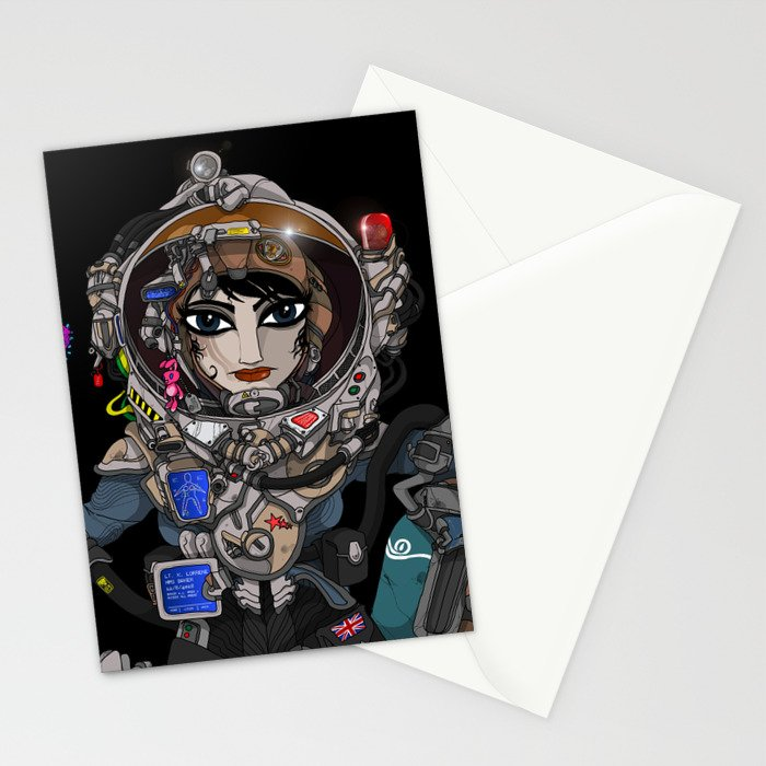 Astronaut Girl. Stationery Cards