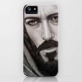 Portrait Drawing of Jesus Christ iPhone Case