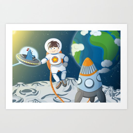 First contact - Space series 2 Art Print