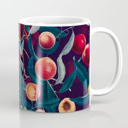 Nectarine and Leaf pattern Coffee Mug