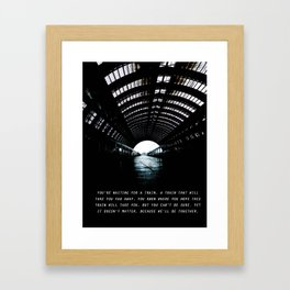 Waiting on a train Framed Art Print