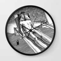 apollonia Wall Clocks featuring asc 614 - Le blues de janvier (HIM)  Second version by From Apollonia with Love