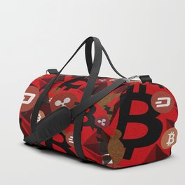 Сrypto currencies money pattern Duffle Bag