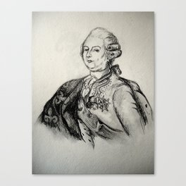 French Sketch III Canvas Print