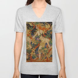 DIANA AND HER NYMPHS - ROBERT BURNS Unisex V-Neck