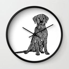 Dog Zentangle  Wall Clock