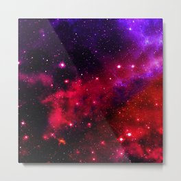 Pink Black Blue Metal Print