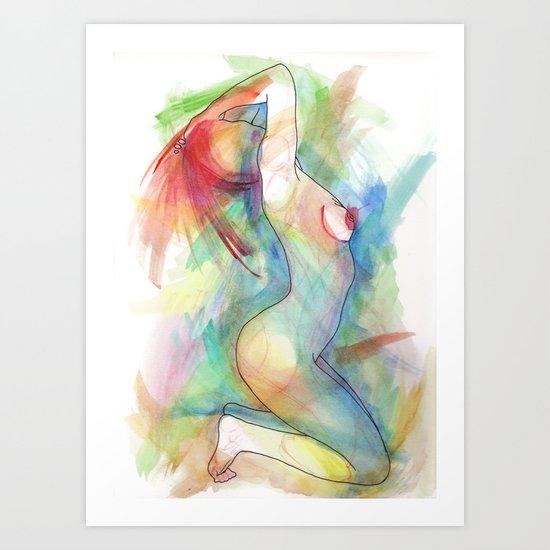 Levoton tuuli uteliaan korvaan Art Print