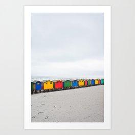 Muizenberg Beach Huts (Vertical) Art Print