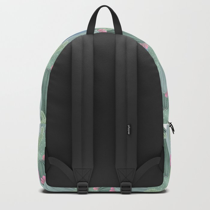Cacti Love / Watercolor Cactus Pattern Backpack