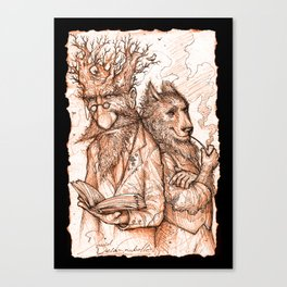 Randil Eadlin and Benjamin Ulfr Canvas Print