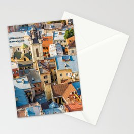 Colors of city Stationery Cards