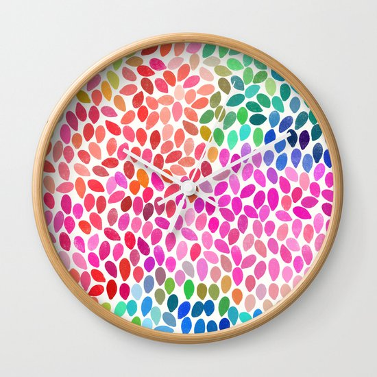 rain 5 sq Wall Clock