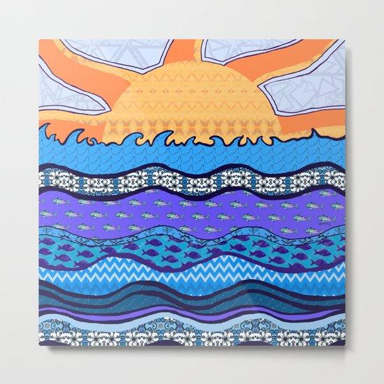 Sun on the Horizon Metal Print