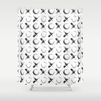 xoxo Shower Curtains featuring XOXO by Neon Wildlife