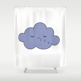 sleepy cloud Shower Curtain