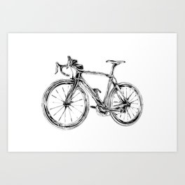 Wooden Bicycle Art Print