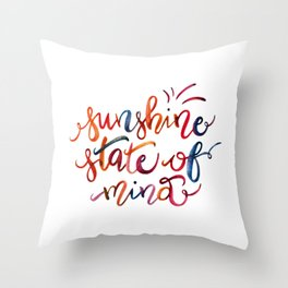 Sunshine State of Mind Throw Pillow